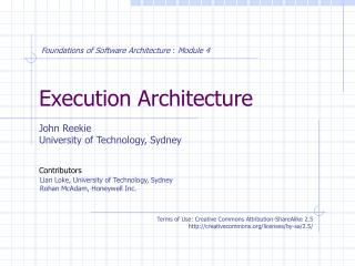Execution Architecture