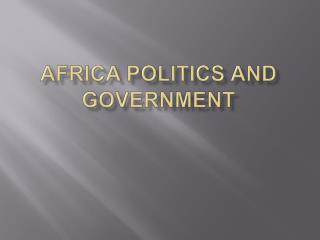 Africa politics and government