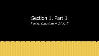 Section 3: Part 1 The Book of Genesis