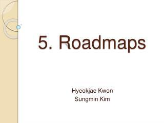 5. Roadmaps