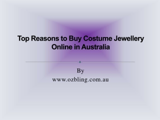 Costume Jewellery Online in Australia