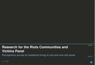 Research for the Riots Communities and Victims Panel