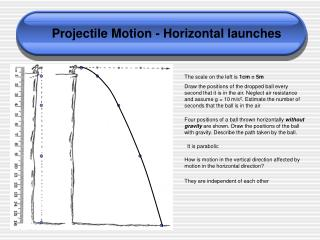 Projectile Motion - Horizontal launches