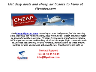 Get the Best Pune Cheap Flight Deals
