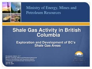 Shale Gas Activity in British Columbia