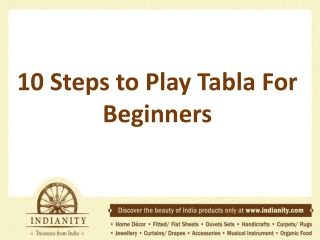 10 Steps to Play Tabla For Beginners