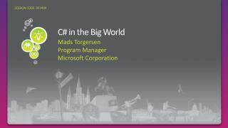 C# in the Big World