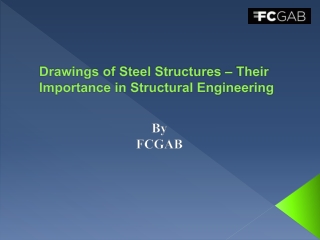 Drawings of Steel Structures