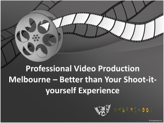 Professional Video Production Melbourne