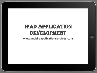 iPad Application Development Service Provider