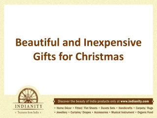 Beautiful and Inexpensive Gifts for Christmas