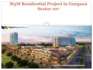 M3M New Residential Projects Gurgaon