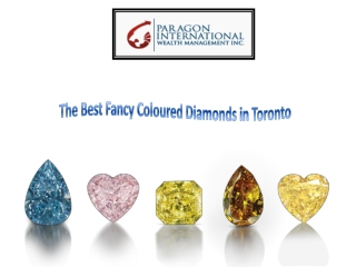 Fancy Coloured Diamonds