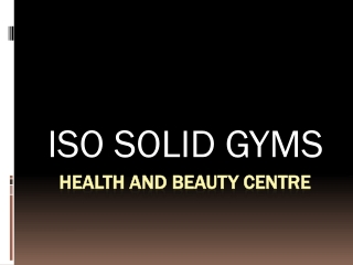 Gym Flooring and Spa Products