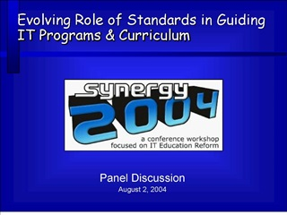 panel discussionaugust 2, 2004