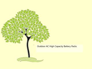 Outdoor AC High Capacity Battery Packs