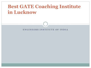 Best GATE Coaching Institute in Lucknow
