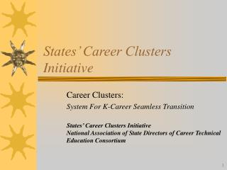 States' Career Clusters Initiative