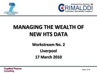 MANAGING THE WEALTH OF NEW HTS DATA