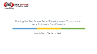 Finding the Best Travel Portal Development Company for Your
