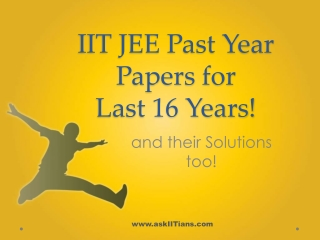 IIT Past Year Papers and Solutions