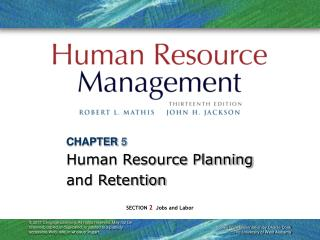 CHAPTER 5 Human Resource Planning and Retention