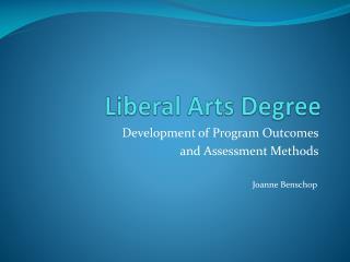 Liberal Arts Degree