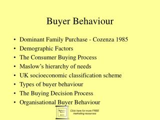 Buyer Behaviour