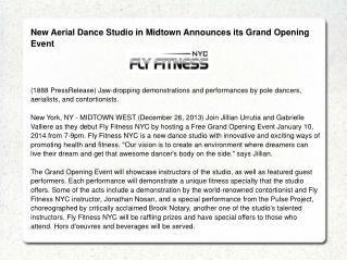 New Aerial Dance Studio in Midtown Announces