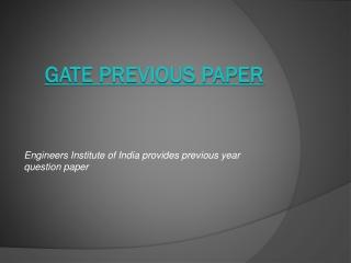 gate previous paper