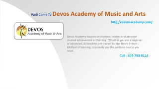 Devos Academy of Music and Arts