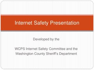 Internet Safety Presentation