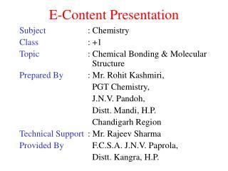 E-Content Presentation
