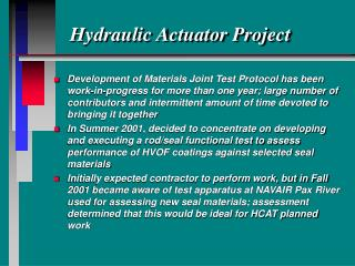 Hydraulic Actuator Project