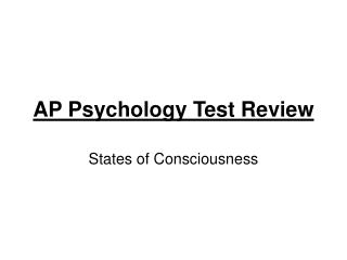 AP Psychology Test Review