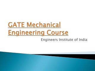 GATE Mechanical Engineering course