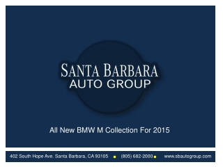 The All New BMW M Collection for 2015