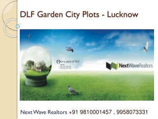 dlf garden city lucknow-residential and commercial plots