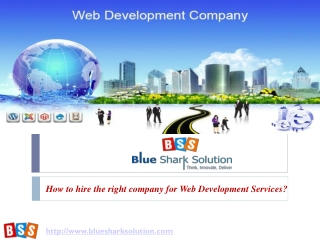 How to hire the right company for web development services?