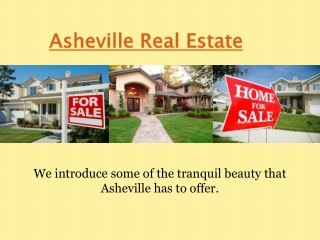 Homes For Sale In Asheville Nc