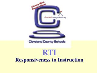 RTI Responsiveness to Instruction