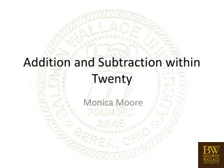 Addition and Subtraction within Twenty
