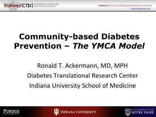 Community-based Diabetes Prevention –  The YMCA Model