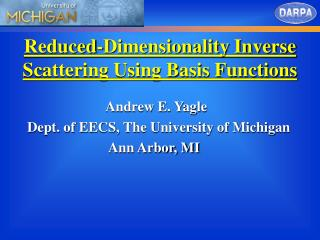 Reduced-Dimensionality Inverse Scattering Using Basis Functions