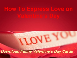 How To Express Love on Valentine