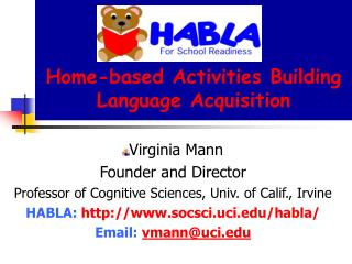 Home-based Activities Building Language Acquisition