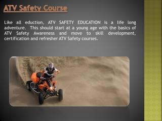ATV Safety