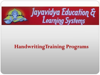 Handwriting-Training