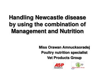 Handling Newcastle disease by using the combination of Management and Nutrition