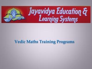 Vedic-Maths-Training